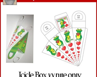 Frog Love Icicle Box White