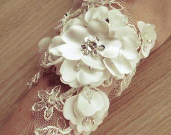 Bridal lace  bracelet.