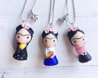 Frida Kahlo necklace | Frida Kahlo earrings | mexican earrings | USA