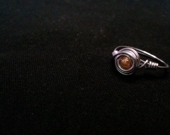 Handmade cute Wire Ring Wrap