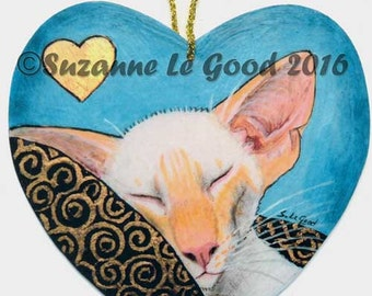 REDPOINT SIAMESE CAT painting hanging sign by Suzanne le Good
