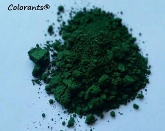 Chromium Woodland Green Loose Pigment Powder CP Soap MP Colorant, Makeup Making, Bath Bomb Color, Cold Process Melt Pour Lip Safe Cosmetic
