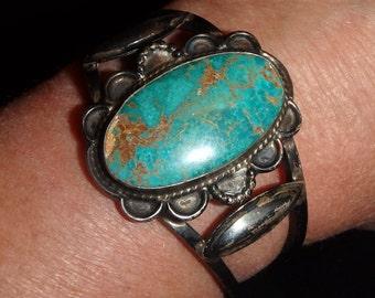 Antique Turquoise Cuff Bracelet
