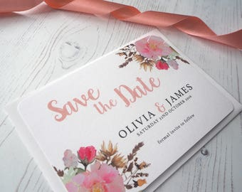Pretty Posie Save the Date - SAMPLE