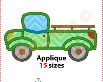 Pickup Applique Design. Pickup embroidery design. Pickup truck embroidery. Applique pickup truck. Truck applique. Machine embroidery design