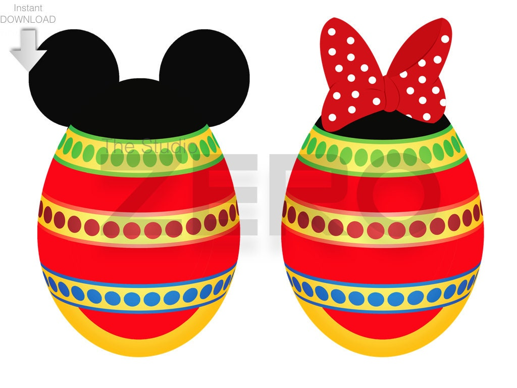Pascua Clipart Disney hierro imprimible Mickey & Minnie