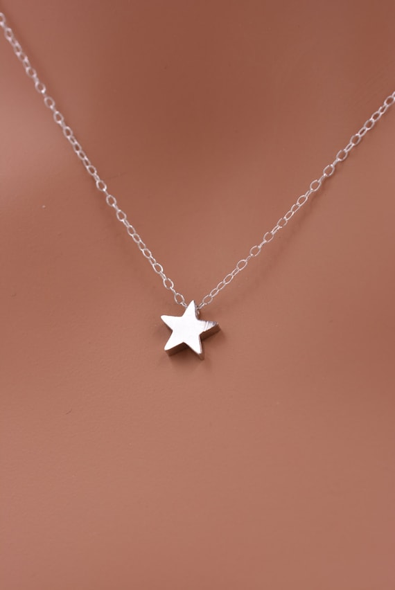 pin dainty tiny everyday simple star handmade necklace cute sterling silver