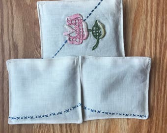Vintage Lavender Sachets, Set Of 3