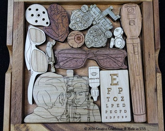The Eye Doctors Puzzle – can be personalized with your Doctors name