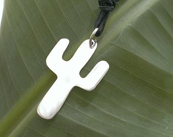 Sterling Silver Suguaro cacti pendant