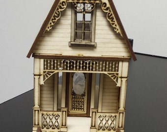 "laser dollhouse kit Cottage  1/48"" quarter inch scale miniature  New"