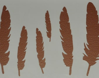 Feather Stencil Template Scrapbooking Art Card Making