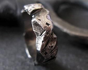 Mens Wedding Band Carved Mens Wedding Ring Unique Mens Wedding Band Viking Wedding Ring Rustic Mens Wedding Bands Viking Mens Wedding Rings