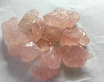 Rose quartz raw crystals 28x20mm to 30x50mm 1000 carats