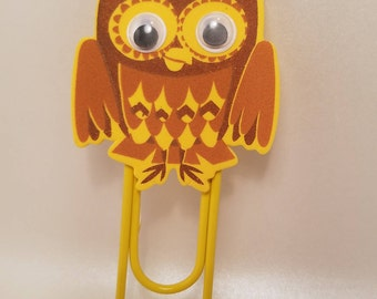 Wise Ol Owl Paper Clip Book Mark