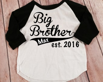 Big Brother Shirt Little Brother Shirt Personalized Shirt Sibling Shirts Sister Shirt Pregnancy Announcement Shirt Baby Announcement Shirt
