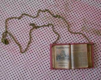 "Necklace open book ""Grimm fairytales"""