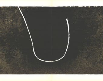 Francois Fiedler-Hook on grooved surface-1967 Lithograph
