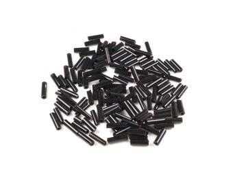 20g black tube seed beads around 6.5 / 7mm LBP00262