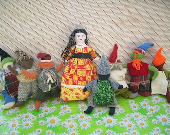 """Fairy tale dolls """"Snow white and the 7 dwarfs"""""""