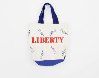 Vintage Liberty Tote Bag - Shopper - Statue of Liberty - Lady Liberty - New York - NYC - Brooklyn - Bronx - Queens - Gift - Patriotic USA