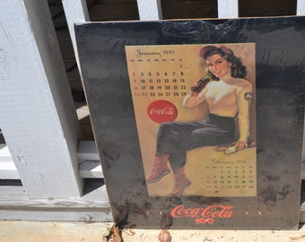 Coke Reproduction Poster of 1949 Calendar