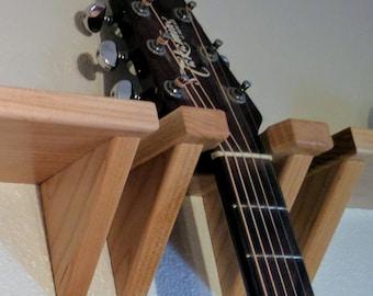 Maple Guitar Wall Hanger, Instrument Display Hook, Mount, Holder, Home, Office, Music Room, Studio, Gift for Guitarist, Gifts Under 20