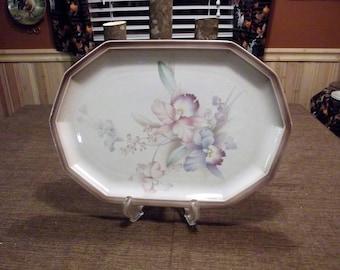 "Mikasa Nature's Garden *-* ORCHIDS *-* 14"" Oval Serving Platter"