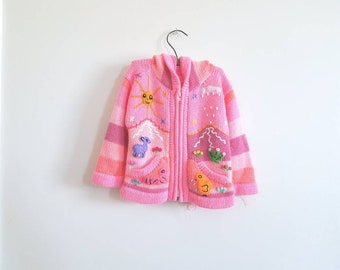 Vintage Pink Embroidered Sweater