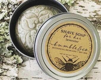 Womens Shaving Soap   Shave Soap for HER   Vegan Shaving Soap   All Natural Shave Soap   Lavender Soap   Ladies Shave Soap   Gentle Soap