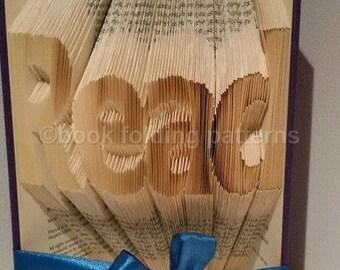 Read word book folding pattern
