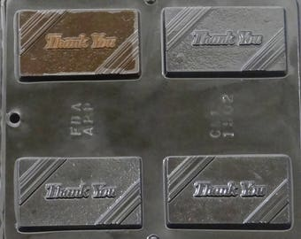 Thank You Greeting Card Chocolate Candy Mold 1502