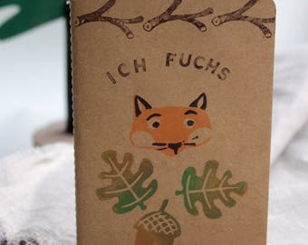 I fuchs-hand printed notebook A6