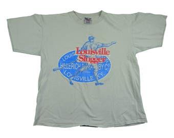 Vintage Louisville Slugger 90s Tee - Vintage 90s Louisville Slugger Baseball Kentucky T Shirt - L
