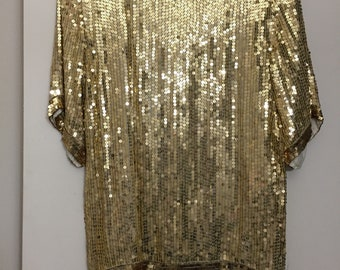 Vergianni Gold Sequin Top