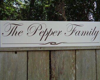 Family name sign, Extra Large Name Sign, 40x9.25 Sign, Personalized, Wood Custom Established Sign Rustic Vintage Shabby Chic