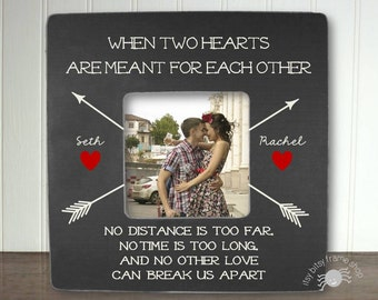 Long Distance Relationship Gift Boyfriend Gift Girlfriend Gift  Deployment Gift New Item When Two Hearts Are Meant For Each Other IB5FSLOVE