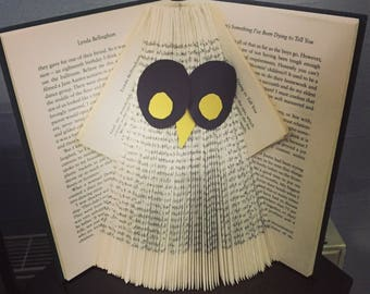 Marshall's Farm Animals Ollie Owl Hand Made Decorated Gift Folded Book Art for Animal Lovers Birthday Christmas