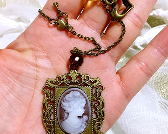 Inspired by Vampire Diaries cameo necklace