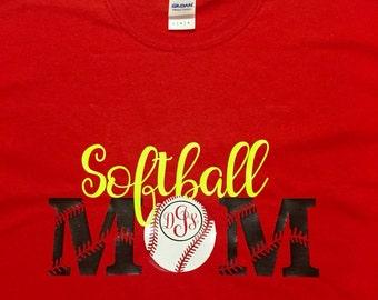 Softball Mom with Personalization