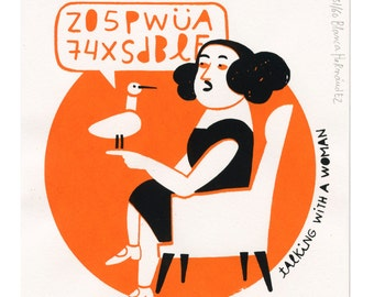 talking with a woman (silkscreen, limited edition)