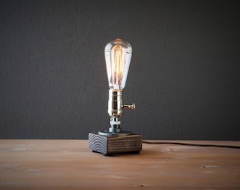 Edison lamp etsy edison lamp rustic decor unique table lamp industrial lighting steampunk lamp aloadofball Choice Image