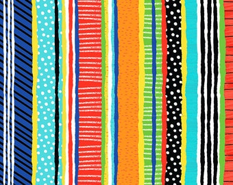 Multi Stripes from Timeless Treasure's Snorkel Adventure Collection and Treasure Island Collection by Gail Cadden