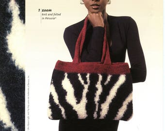 Berroco Knitting Pattern Booklet #265 Everything Felted -Bags, Coasters, Mitts  and More