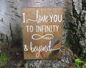 I love you to infinity and beyond,Rustic home decor,Nursery decor,Nursery sign,Farmhouse decor,Farmhouse sign,Rustic nursery decor,Wood sign