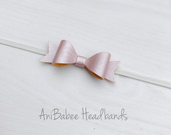 Faux Leather Bow, Baby Headband, Baby Bows, Bow Headband, Newborn Headband, Infant Headband, Newborn Bows, Hair Bows, Baby Hair Bows, Bows