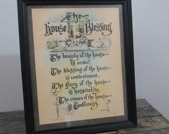 Housewarming Gift, The House Blessing, Christian Prayer, Wedding Gift, Family Room Decor