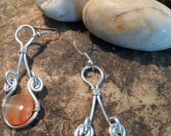 Orange dyed agate sets
