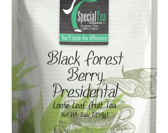16 oz. Black Forest Berry Presidental Blend Fruit Tea with Free Tea Infuser