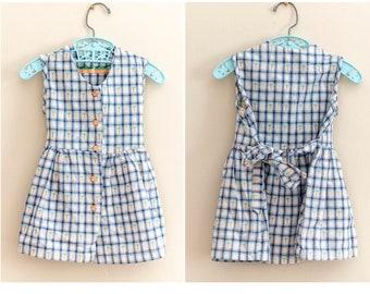 Vintage Baby Girl Gingham Dress   Carrot Dress